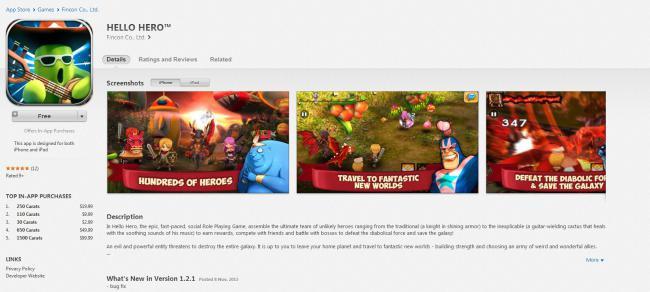Hello Hero บน App Store สำหรับ iPhone และ iPad