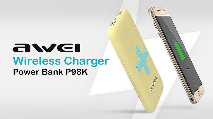 รีวิว แบตสำรองชาร์จไร้สาย Awei Wireless Charger Power Bank P98K วางปุ๊ป ชาร์จปั๊บ