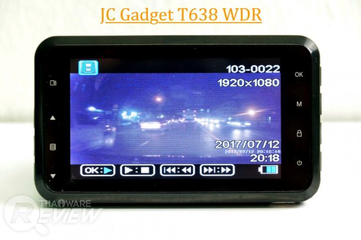 กล้องติดรถยนต์ JC Gadget รุ่น T638 WDR และรุ่น G60 WDR ของดีใช้ได้ ราคาไม่แรง