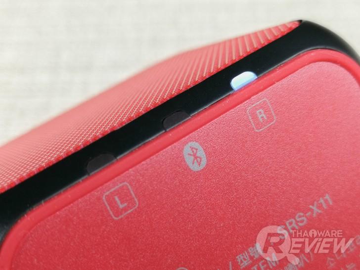 Sony SRS-X11 ลำโพงบลูทูธไซส์เล็ก ขุมพลังเสียงพกพา เบสแน่น ใช้งานคู่เป็นสเตอริโอได้