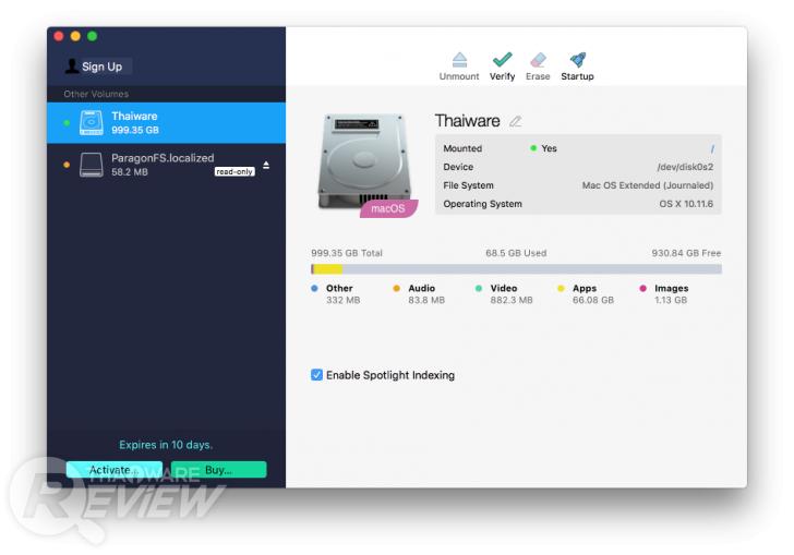 Paragon NTFS for Mac โปรแกรมที่ช่วยให้ใช้งานแฟลชไดรฟ์ ฮาร์ดไดรฟ์บน Mac ได้ทุกระบบ
