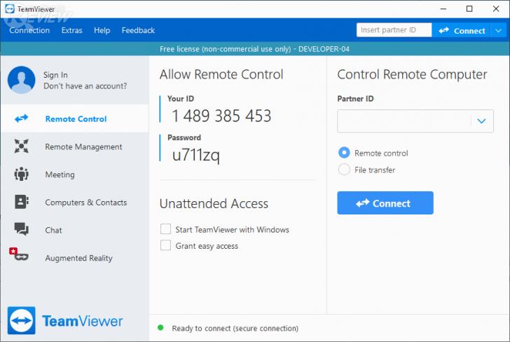 TeamViewer 15 โปรแกรมประชุม และดูแลเครื่องคอมพิวเตอร์จากระยะไกลผ่านอินเทอร์เน็ต