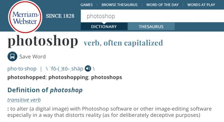 เมื่อไหร่กัน ที่ Photoshop กลายเป็นคำกริยา